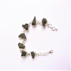 Moldavite bracelet Argent