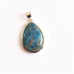 Apatite bleue pendentif Argent