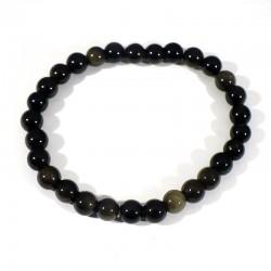 Obsidienne dorée perles 6 mm