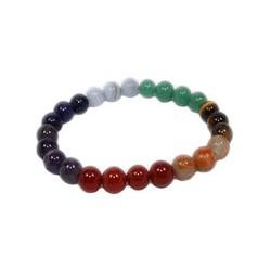 7 chakras bracelet perles 8 mm