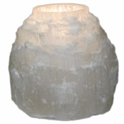 Selenite bougeoir